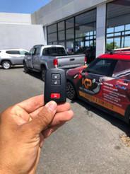 Toyota Tacoma del 2016 con llave perdida. Servivio a domicilio en Triangle Dealer de Mayagüez.