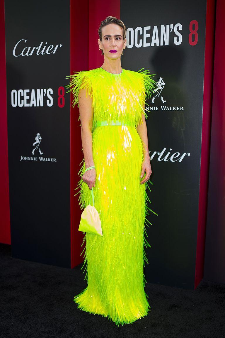 Sarah Paulson in neon