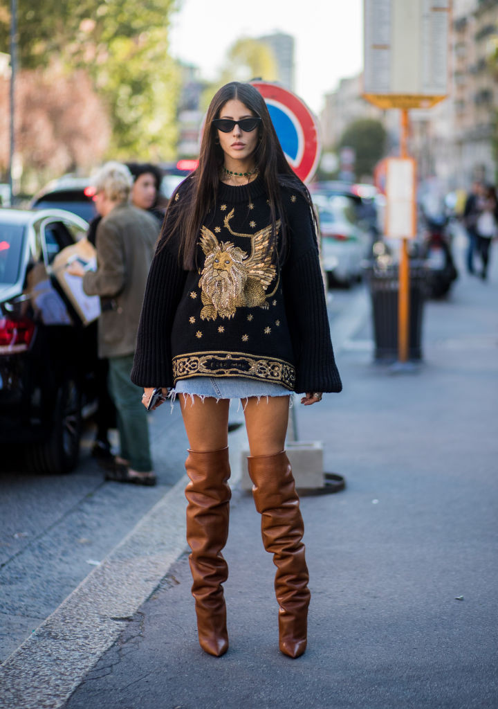 high-knee boots