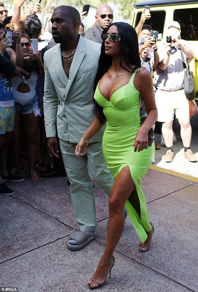 Kim Kardashian in neon