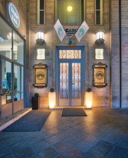 Entrance by night