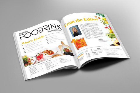 Food & Drink 2019 Table of Contents & Editor letter