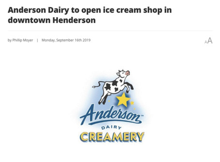 Anderson Dairy To Open Ice Cream Shop In Downtown Henderson
