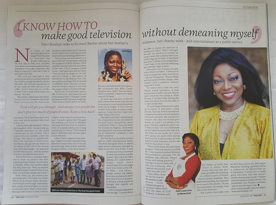 Patti Boulaye's article in the Lady Magazine