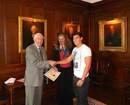 BIPADA Diploma Presented by Lord Cotter and Princess Katarina of Yugoslavia & Serbia at Queen's College, Oxford