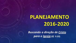 Planejamento para 2016-2020