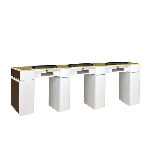 Nail Table T-39 Triple (White / Chocolate) with Gel Hole-PS