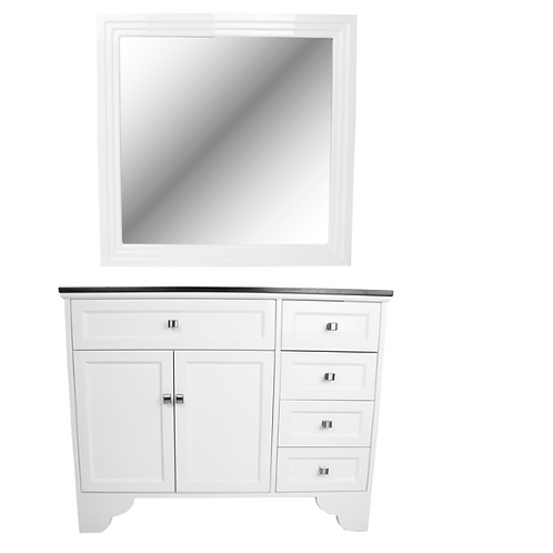 MAYBELLE TRADITIONAL VANITY STYLEING STATION W/MIRROR-AY