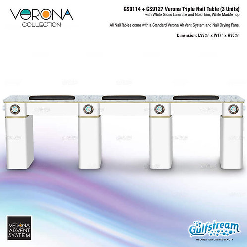 GS9114 + GS9127 VERONA TRIPLE NAIL TABLE (3 UNITS)