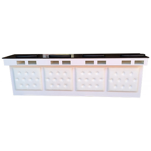 Manicure Bar Station with Tufted Leather-Model # MBS-2500-BS