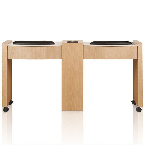 CLASSIC DOUBLE SPACE SAVER MANICURE TABLE-AF