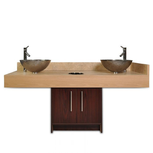 CONTEMPORARY ISLAND SINK WITH GLASS BOWL-AF