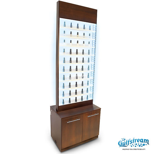 PARIS NAIL POLISH RACK WITH CABINET AND LED LIGHT