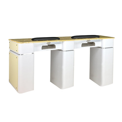 Nail Table T-39 Double (White / Beige) with Gel Hole-PS