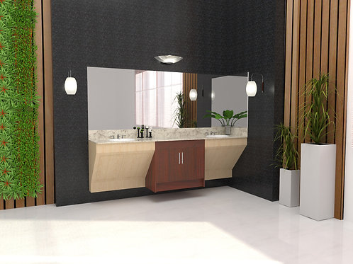 CONTEMPORARY DOUBLE SINK CABINET-AF