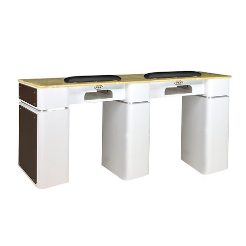 Nail Table T-39 Double (White / Chocolate) with Gel Hole-PS