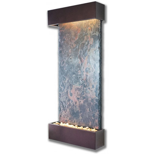 Nojoqui Falls Large NSI Slate Indoor Wall Fountain Copper Vein Trim-Mode-BS