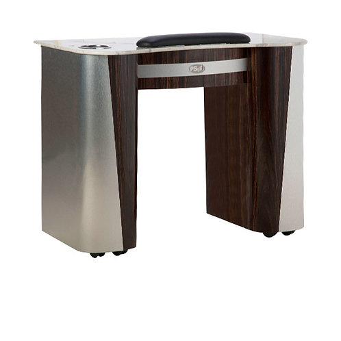 Nail Table T-102 (Cherry/Aluminum)-PS