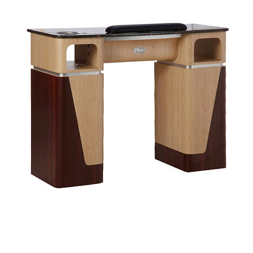 Nail Table T-06G (Ash / Rosewood / Aluminum)-PS