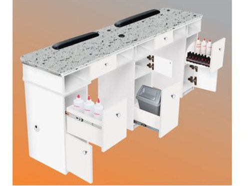 SONOMA DOUBLE MANICURE TABLE-AY
