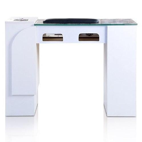 ION WHITE MANICURE TABLE WITH UV GEL LIGHTS-AF