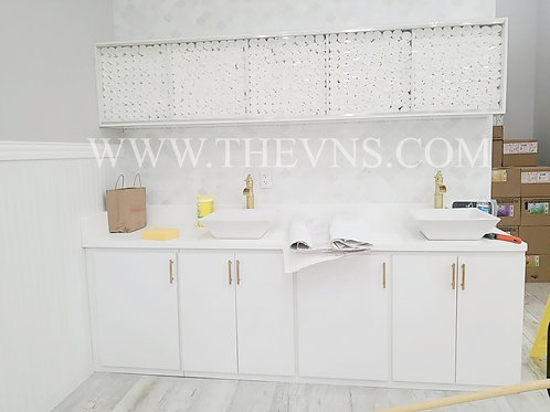 Double Sink and Cabinet Custom