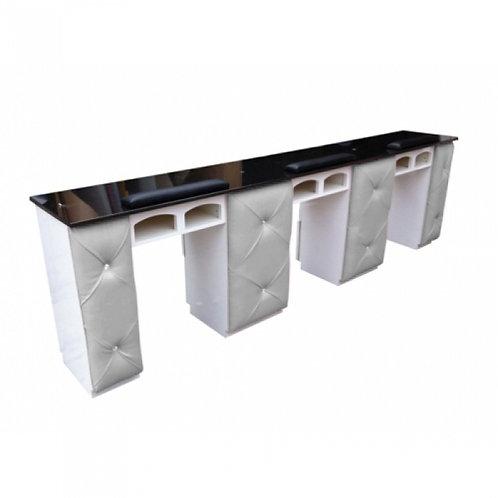 Triple Manicure Table-Model # NT-72T-BS