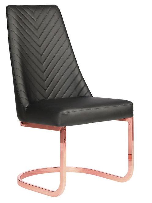 Customer Chair Chevron 8110RG Rose Gold-W