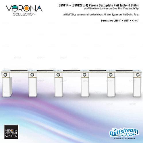 GS9114 + (GS9127 X 4) VERONA SEXTUPLETS NAIL TABLE (6 UNITS)-GS