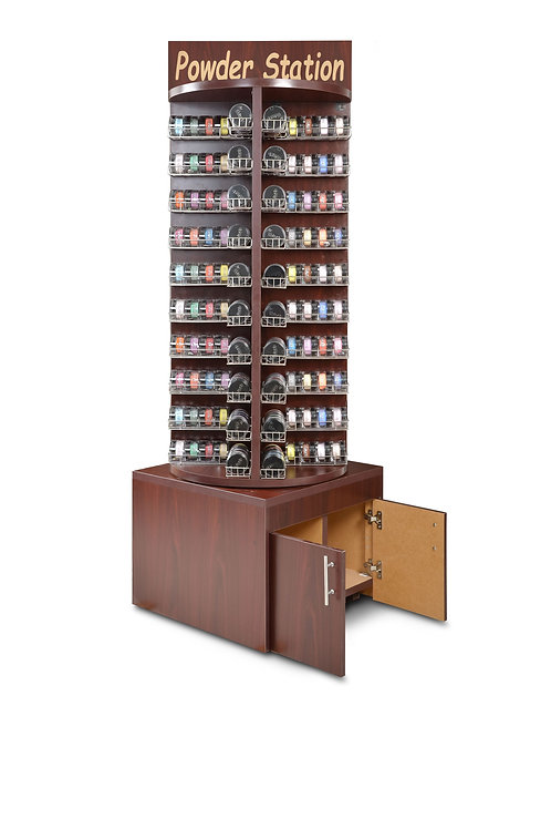 DELUXE WOODEN ROTARY POWDER STAND RACK-AF