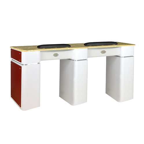 Nail Table T-39 Double (White / Burgundy)-PS