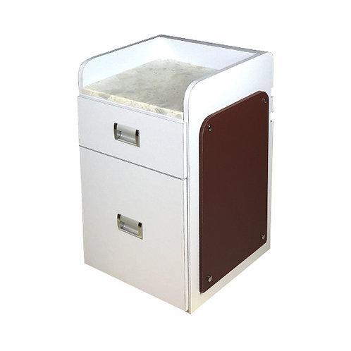 Pedi Cart D39 (White/Chocolate)-PS