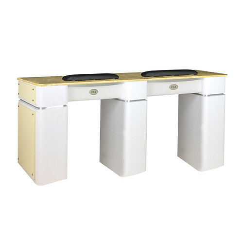 Nail Table T-39 Double (White / Beige)-PS