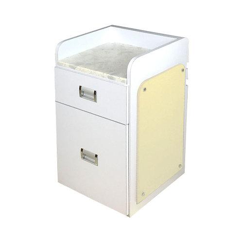 Pedi Cart D39 (White/Beige)-PS