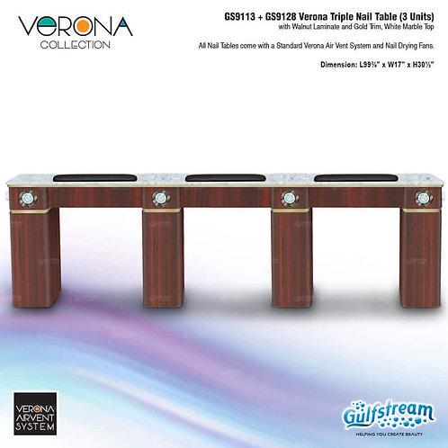 GS9113 + GS9128 VERONA TRIPLE NAIL TABLE (3 UNITS)
