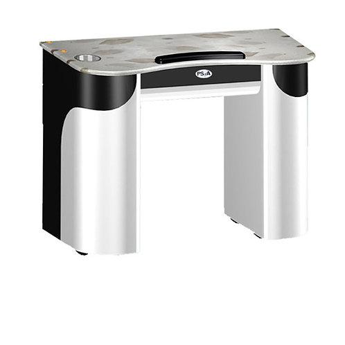 Custom Made Nail Table T-108 (White / Black)-PS