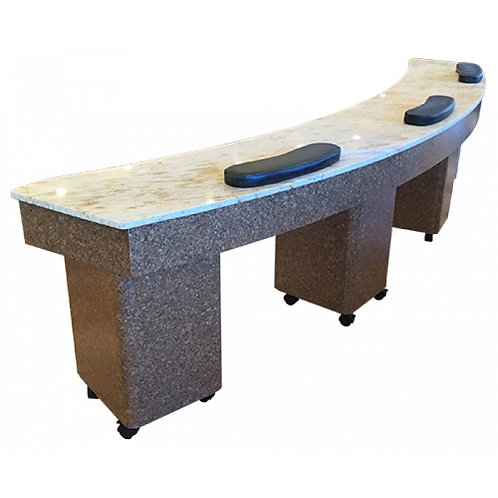 Triple Manicure Table- Model # NT-400-BS