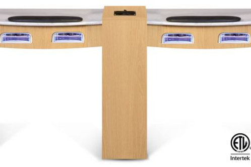 CLASSIC DOUBLE MANICURE TABLE WITH UV GEL LIGHTS-AF