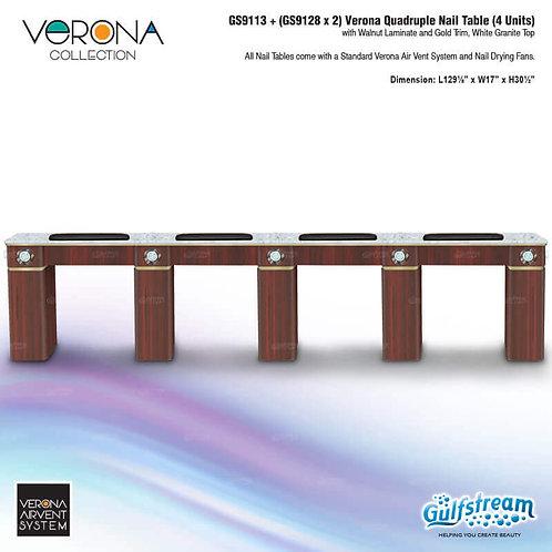 GS9113 + (GS9128 X 2) VERONA QUADRUPLE NAIL TABLE (4 UNITS)-GS