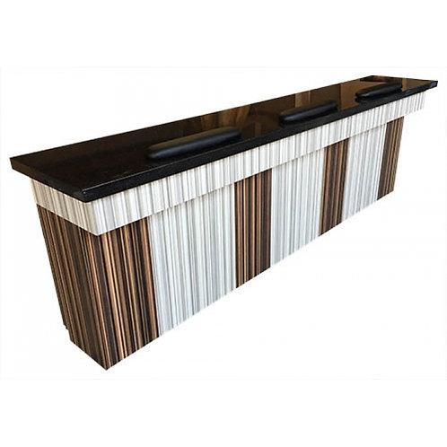 Triple Manicure Table-Model # NT-64T-BS