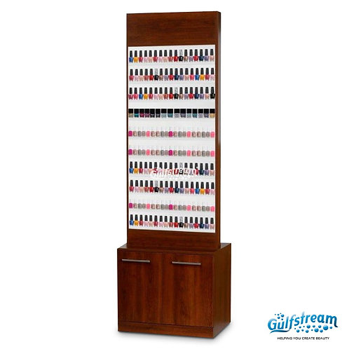 PARIS NAIL POLISH RACK WITH CABINET