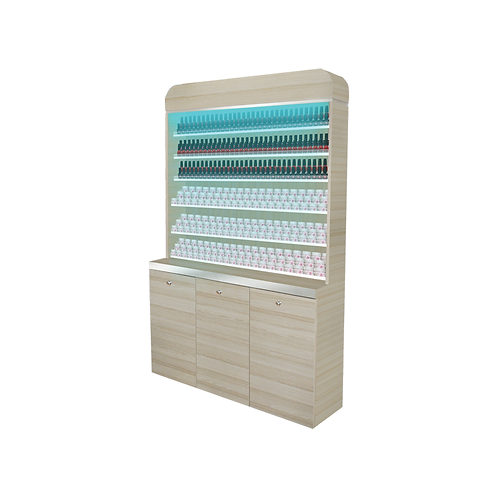 "I Polish & Powder Rack With Gel Color & Powder Cabinet - 48"" (517)"