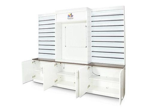 DREAMAU MACHINE CABINET - SET OF 3 DISPLAY - WHITE-AF