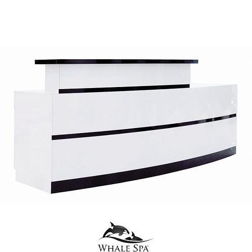 LUX BW Stripes Reception Desk-W