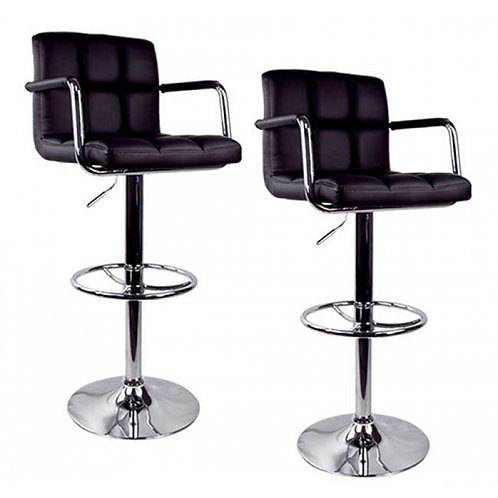 Bar Stool High Back Armrest-Black--Model # 39163-BS