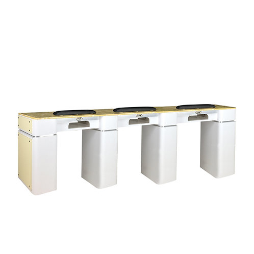 Nail Table T-39 Triple (White / Beige) with Gel Hole-PS