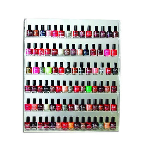 NAIL POLISH ORGANIZER DISPLAY WALL RACK-AF