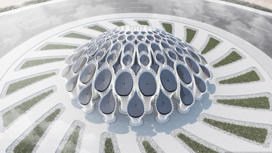 MEAN Designs 3D Printed Concrete Roundabout Pavilion for Expo 2020 Dubai