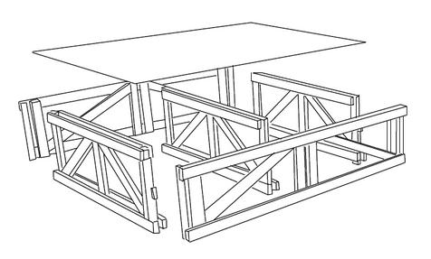 Disegno struttura praticabile