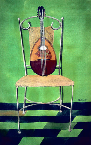 Italian Mandolin on Chair